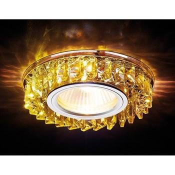 Точечный светильник Декоративные Кристалл Led+mr16 S255 CH/YL - фото 1013965