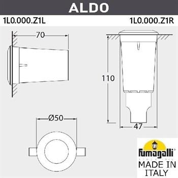 Встраиваемый светильник уличный Aldo 1L0.000.000.AXZ1L - фото 1133323