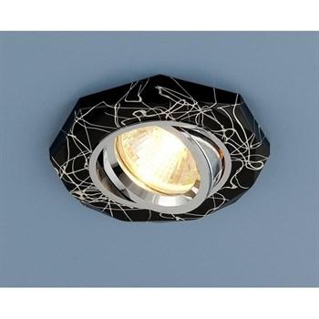Точечный светильник 2040 2040 MR16 BK/SL черный/серебро - фото 924438
