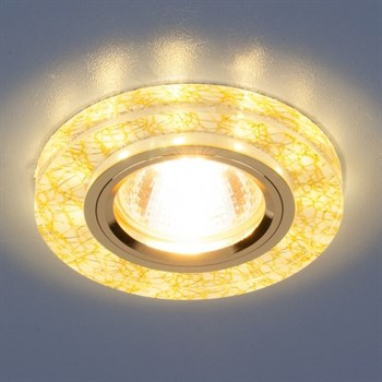 Точечный светильник 8361-8371 8371 MR16 WH/GD белый/золото - фото 924942