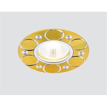 Точечный светильник Алюминий С Узором A808 AL/G - фото 925107