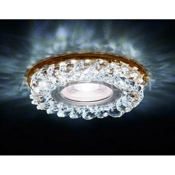 Точечный светильник Декоративные Кристалл Led+mr16 S257 BR - фото 929359