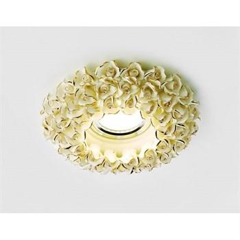 Точечный светильник Дизайн С Узором И Орнаментом Гипс D5505 W/G - фото 930363