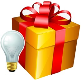 Комплект светодиодных ламп (подарок)