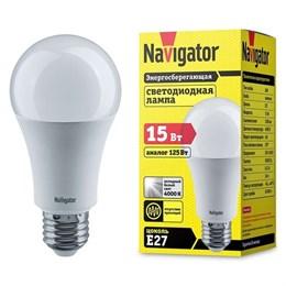 Лампа светодиодная LED Navigator 15вт Е27 белый (71365 NLL-A60)
