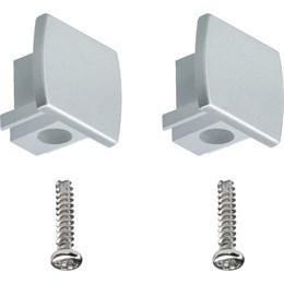 Боковые заглушки для шин (матовый металл) Paulmann Rail 95496