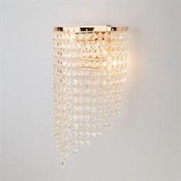 Настенный светильник 3102 3102/2 золото/прозрачный хрусталь Strotskis