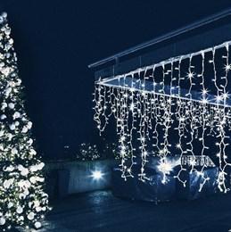 Гирлянда уличная бахрома Eurosvet 100-101 IP65 3*0,6м белый свет, постоянное свечение a044046