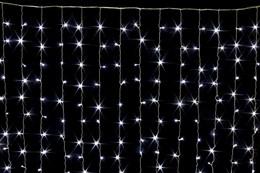 Световой занавес Feron 32342 IP44 3*3м с эффектом мерцания холодный белый