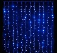 Световой занавес Feron CL21 32340 IP44 3*3м постоянное свечение синий свет