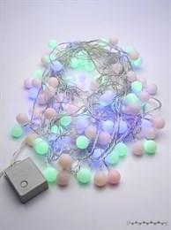 Гирлянда нить Feron CL65 32353 шарики 10м разноцветные разные режимы работы