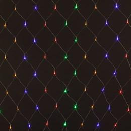 Сеть светодиодная Eurosvet 1,5*1,5 разноцветная, разные режимы работы IP20