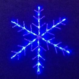 """Световая фигура """"Снежинка"""" D6030 B синий свет D51см IP44"""