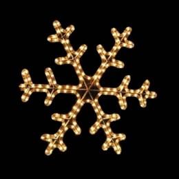 """Световая фигура """"Снежинка"""" DSF-013 желтая  D46см IP44 постоянное свечение"""