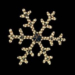 """Световая фигура """"Снежинка"""" DSF-013 белая  D46см IP44 постоянное свечение"""