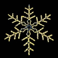 """Световая фигура """"Снежинка"""" DSF-017 желтая с контроллером 95*95см IP44"""