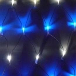 Сетка светодиодная уличная ландшафтная 2*0,6м IP44 бело-синяя D2061 постоянное свечение