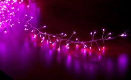 Гирлянда Мишура-Роса 400 LED 3м с блок пит IP65 stead D6303 Pink/silver
