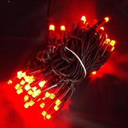 """Гирлянда  """"LED Стринг Лайт"""" outdoor 18м IP44 красный свет, постоянного свечения"""
