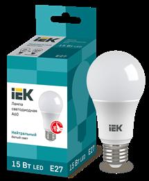 Лампа светодиодная LED 15вт Е27 белый ECO
