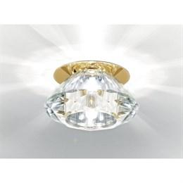 Точечный светильник Кристальный дизайн D8016 CL/G