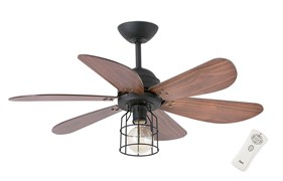 Люстра-вентилятор Faro CHICAGO BLACK CEILING FAN 33703