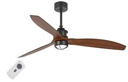Люстра-вентилятор Faro JUST FAN BLACK/WOOD CEILING FAN WITH DC MOTOR 33395