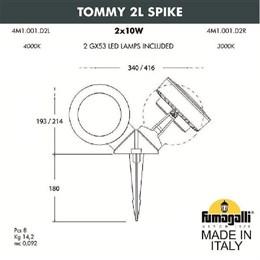 Грунтовый светильник Tommy 4M1.001.000.WXD2L