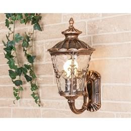 Настенный фонарь уличный Diadema черное золото GLYF-8046U