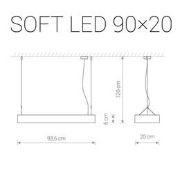 Подвесной светильник Soft Led 9544
